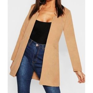 Boohoo Camel Wool Coat (New)